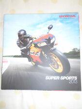 Honda Super Sports Motorcycle brochure 2013