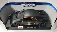 Maisto Special Edition 1:18  Die-Cast Vehicle Bugatti Chiron Sport Flat Black