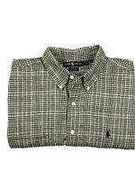 RALPH LAUREN BLAKE 100% Cotton Mens Long Sleeve Flannel Shirt Size L Brown/Black