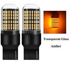 Ampoules T20 LED WY21W 144 SMD Canbus Orange pour feux de jour clignotants 7440