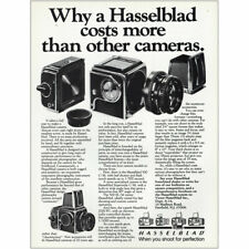 1981 Hasselblad: Costs More Than Other Cameras Vintage Print Ad