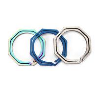 Keyring Octagon Titanium Hook outdoor clip kit Buckle Keychain edc multi tool FT