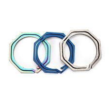 Keyring Octagon Titanium Hook outdoor clip kit Buckle Keychain edc multi tool Jl