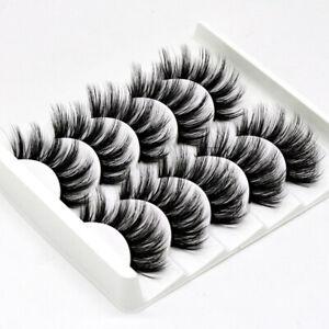 5 pair 3D Mink Natural Thick False Fake Eyelashes Lashes Extension Hair 47+++
