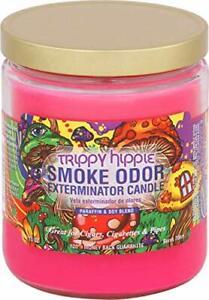 Smoke Odor Exterminator 13oz Jar Candle, Trippy Hippie (3-Candles)