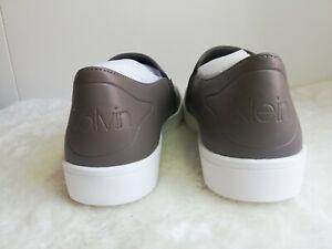 CALVIN KLEIN Women's Branded Kansas Slip On Trainers Grey Sz: uk 4,6,7 rrp:£89