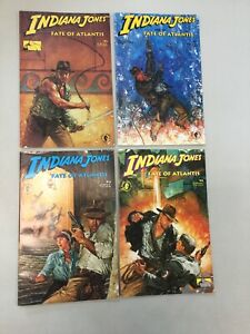 Indiana Jones The Fate Of Atlantis 1-4 1 2 3 4 Dark Horse Comics #1 Is 2nd Print