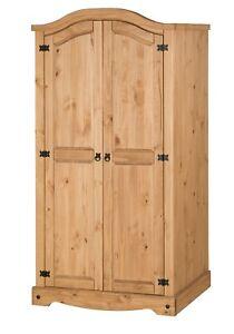 Corona Wardrobe 2 Door Arch Top Mexican Bedroom Solid Pine by Mercers Furniture