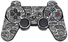 Black Paisley Pattern Swirls PS3 Dual Shock wireless controller Vinyl Decal