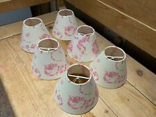 Jim Lawrence lamp shades - set of six with rose pattern mint condition