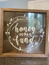 Honeymoon fund box Wooden Box NEW/Rustic