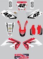 Custom Graphics, Full Kit For Honda CRF 450 2002 - 2004 REBOUND Style stickers