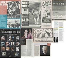 GIORGIO MORODER : CUTTINGS COLLECTION - adverts  electric dreams