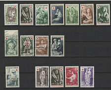 FRANCE CROIX-ROUGE 16 TIMBRES ANCIENS /T1115