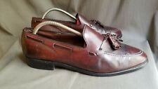 Men's Brown Shell Cordovan Leather ALLEN EDMONDS GRAYSON Tassel Loafers Sz-11 C