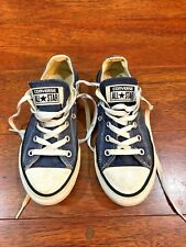 CONVERSE ALL STAR Youth Size 1.5 Blue Canvas Shoes Sneakers Lace Up Boy Girl
