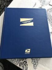 2001 - 2002 USPS Commemorative Stamp Club Album 37 Pages & 268 Stamps