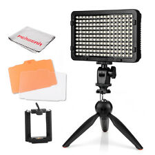 High Power 176 LED Video Light On-Camera + Mini Tripod For Canon Nikon Sony DSLR