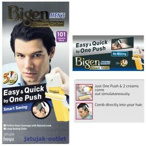Bigen Men Speedy Hair Color Black Natural 101 Easy and Quick by One Push