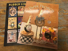 Lot Of 2 Books Fanciful Paper Projects & Rubber Stamping Artist Trading Cards