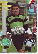 FOOTBALL carte joueur PETER SHILTON équipe ENGLAND