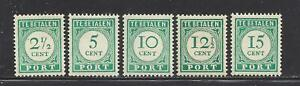 NETHERLANDS ANTILLES - J31 - J35 - MNH - 1948-1949 - NUMERAL
