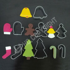 7pcs/set Christmas Series Metal Cutters Cookie Biscuit Cake Decorating Xmas Mold