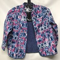 Alfred Dunner Womens Size 18 W Reversible Blazer Jacket Long Sleeve Multi color