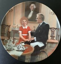 """Edwin M. Knowles """"Tomorrow"""" 1985 Annie Collector's Plate"""