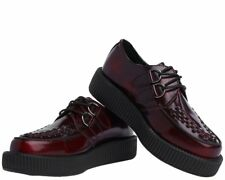 5d1796ae2e630c T.U.K. Shoes Viva Lo Creeper Burgundy Rub Off Ladies UK7 EU40 - AV9053