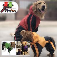 Pet Dog Clothes Rain Coat 4 Feet Four Legs Raincoat for Small Medium Large Coat