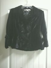 American Star 3/4 Sleeve Double Breasted Black Jacket Juniors - Size L