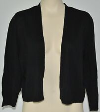 Reitmans EXTRA LARGE XL black cardigan NEW NWT cropped top 3/4 sleeve