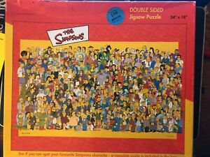 The Simpsons 550 Piece Double Sided Jigsaw Puzzle