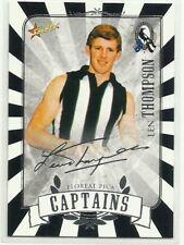 2013 AFL SELECT Collingwood Magpies CAPTAINS SILVER FOIL LEN THOMPSON CARD