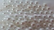 WHITE 10pcs lot -4mm PEARL Shiny round  FLOATING LOCKET CHARMS US SELLER m24