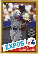 Vladimir Guerrero 2020 Topps 1985 35th Anniversary 5x7 Gold #85-64 /10