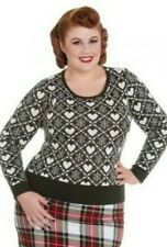 Plus Size Green OR Navy Blue Heart Jumper 2XL 3XL 4XL Snowflake Knitted Top Xmas