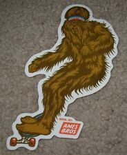 AMES BROS Art Sticker SKATEBOARD SASQUATCH Yeti from poster print pearl jam