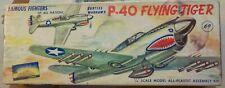 RARE SILVER AURORA P-40 [1955?] CURTISS WARHAWK/FLYING TIGER 1/48