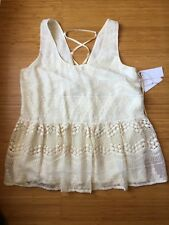 NWT $128 1.STATE Flair Sleeveless Lined Top Spice Market SZ S Sugar Cane