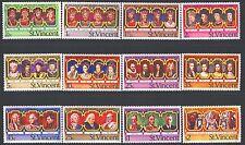 ST. VINCENT 483-94a SG502-13,MS514,SB5 MNH 1977 QEII set+MS+Booklet Cat$14
