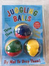 Multi Coloured Juggling Balls Set Of 3 Circus Toy Red Blue Yellow Green BNIB