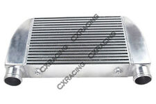"""CXRacing V-Mount 25""""x12""""x4"""" Turbo One Side Intercooler For Mazda RX7 Ford F150"""