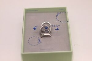 OFF White Set Textured Hexnut Ring | Size 60 | Silver Ring 3 Piece OW RRP £350