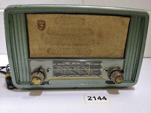 Philips 232u Bakelite Valve Radio Vintage #2144