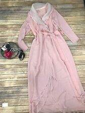 Vintage Kay Kipps New York Women's Wrap Maxi Dress In Pink Size 12 Lined