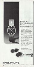 PUBLICITE US  MONTRES PATEK PHILIPPE WATCH  AD 1974  10d -1