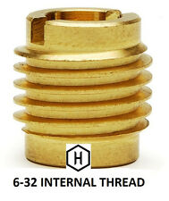 EZ-Lok P/N 400-006, 6-32 Threaded Brass Insert For Wood (25 Pieces)