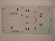 DECALS KIT 1/43 CADILLAC LMP NORTHSTAR N. 4 TEAM DAMS LE MANS 2000